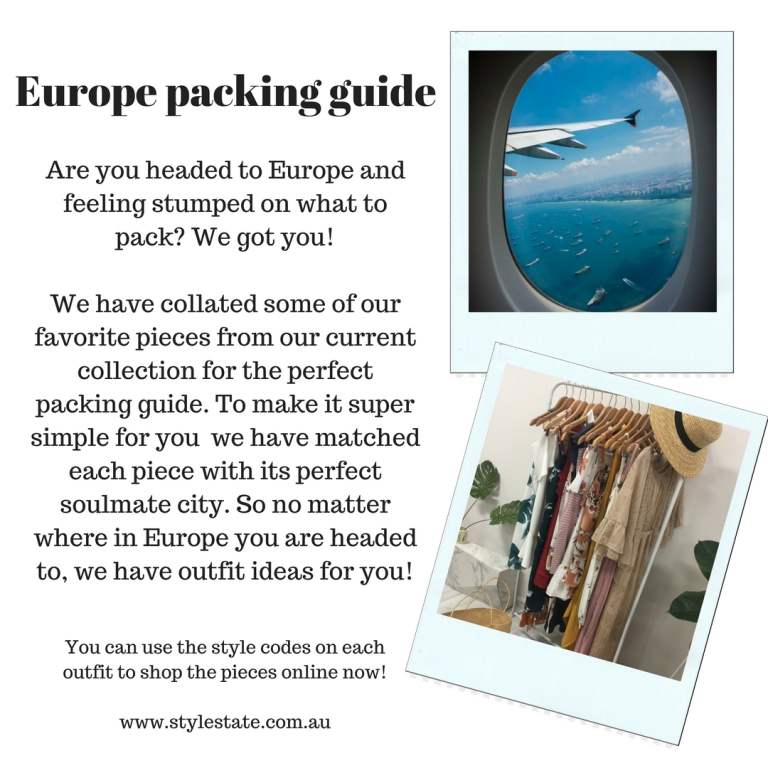 Are you headed to Europe or even on a summer holiday_ Feeling stumped on what to pack while looking at your boring winter wardrobe, or the pieces you wore to death last summer_ We got yo